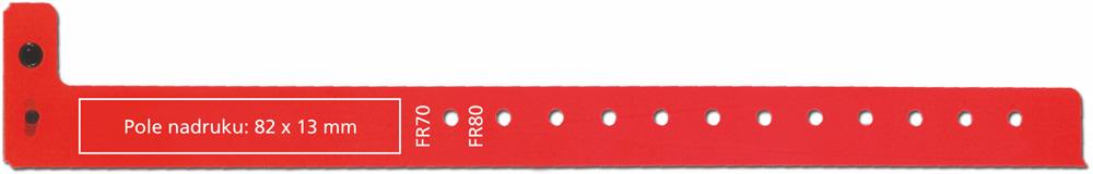 Klasyczna opaska na rękę z plastiku - model 400P